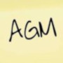AGM post-it note