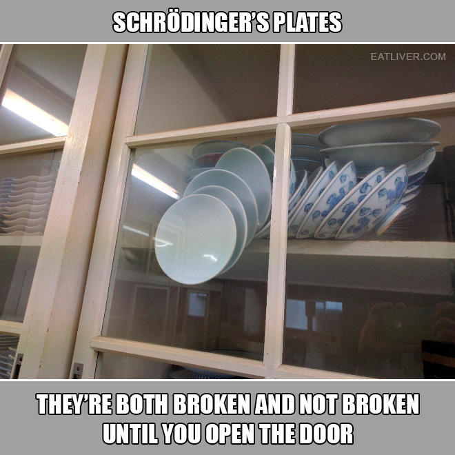 Cupboard with plates